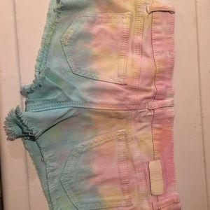 Tye dye booty Jean shorts